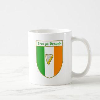 Erin Go Braugh Harp Irish Flag Shield Mugs