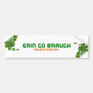 Erin Go Braugh Ireland Forever Bumper Sticker