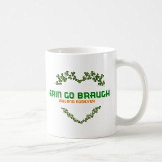 Erin Go Braugh Ireland Forever Classic White Coffee Mug