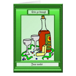 Erin go braugh, Irish whisky Card