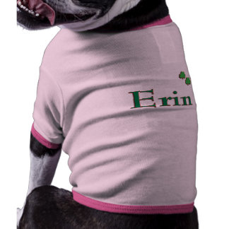 Erin Irish Name Dog T-shirt