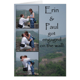 Erin & Paul - Save the Date Stationery Note Card