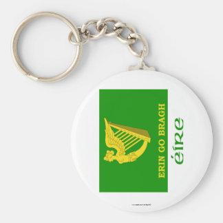 Erin va bandera de Bragh con nombre Llaveros Personalizados