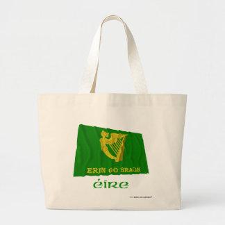Erin va bandera que agita de Bragh con nombre Bolsa De Mano