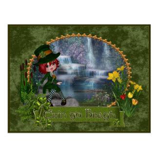 Erin va día de Bragh St Patrick Tarjetas Postales