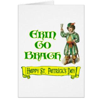 Erin va el decir del día de Braugh St Patrick feli Felicitación