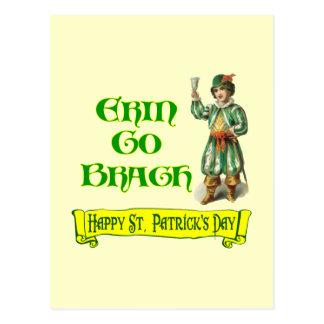 Erin va el decir del día de Braugh St Patrick feli Tarjetas Postales