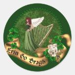 Erin va irlandés de Bragh Pegatina Redonda