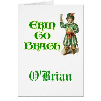 Erin va refrán irlandés de Braugh Personalizeable Felicitaciones