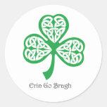 Erin va trébol de Bragh con el knotwork céltico Pegatina