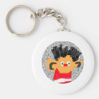 Erine Basic Round Button Keychain