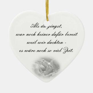 Erinnerungs ornamento de propensión adorno navideño de cerámica en forma de corazón