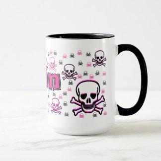 Erin's Pink & Black Skulls Mug