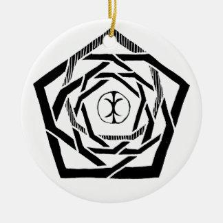 Erisian Mandala and Reverse Ceramic Ornament