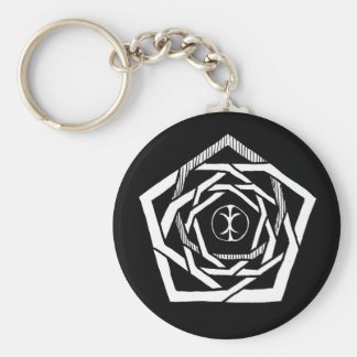 Erisian Mandala Reverse Basic Round Button Keychain