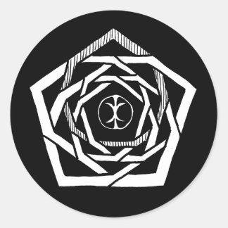 Erisian Mandala Reverse Stickers