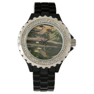Erithacus rubecula wrist watch