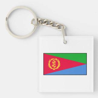 Eritrea - bandera del Eritrean Llavero Cuadrado Acrílico A Doble Cara