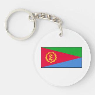 Eritrea - bandera del Eritrean Llavero Redondo Acrílico A Doble Cara