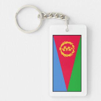 Eritrea - bandera del Eritrean Llavero Rectangular Acrílico A Doble Cara