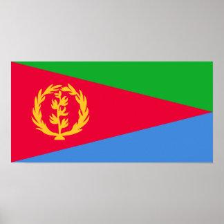 Eritrea - bandera del Eritrean Póster
