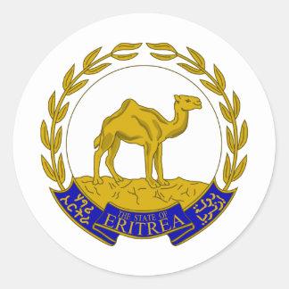 Eritrea Coat of arms ER Classic Round Sticker
