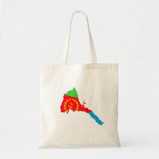 Eritrea country flag map shape silhouette tote bag