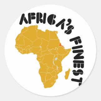 Eritrea, el mapa más fino de África del diseño de Pegatina Redonda