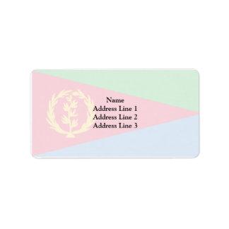 Eritrea, El Salvador Etiquetas De Dirección