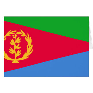 Eritrea, El Salvador Tarjeta De Felicitación