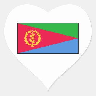 Eritrea – Eritrean Flag Heart Sticker