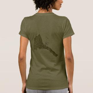 Eritrea Flag and Map dk T-Shirt