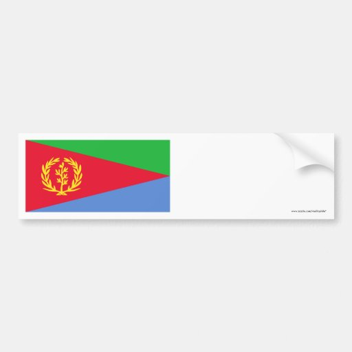 Eritrea Flag Car Bumper Sticker
