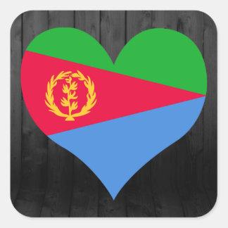 Eritrea flag colored square sticker