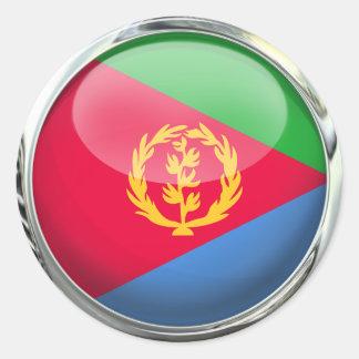 Eritrea Flag Glass Ball Classic Round Sticker