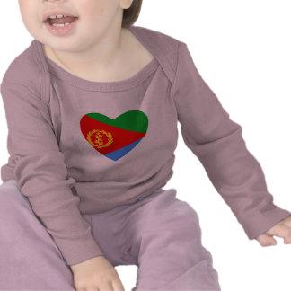 Eritrea Flag Heart T-Shirt