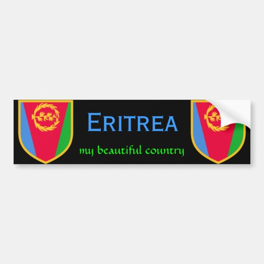 Eritrea flag my beautiful country bumper sticker