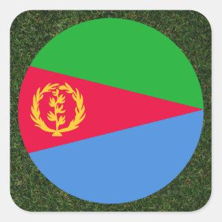 Eritrea Flag on Grass Square Sticker