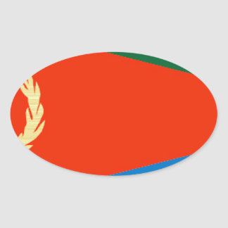 Eritrea Flag Oval Sticker