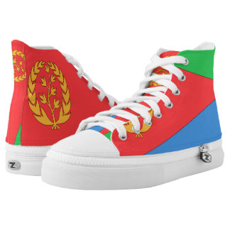 Eritrea Flag -.png High-Top Sneakers