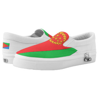 Eritrea Flag -.png Slip-On Sneakers