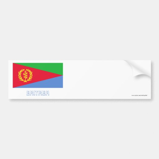 Eritrea Flag with Name Car Bumper Sticker
