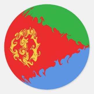 Eritrea Gnarly Flag Classic Round Sticker