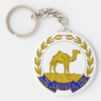 eritrea basic round button keychain