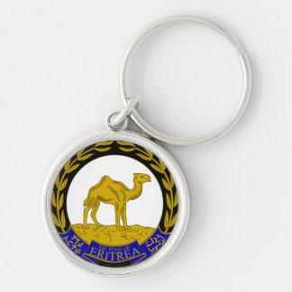 eritrea Silver-Colored round keychain