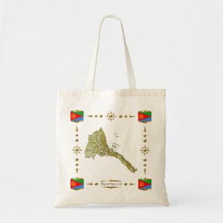 Eritrea Map + Flags Bag