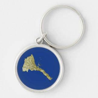 Eritrea Map Keychain