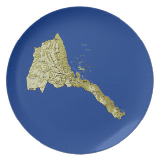 Eritrea Map Plate