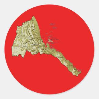 Eritrea Map Sticker