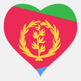 Eritrea Pegatina En Forma De Corazón